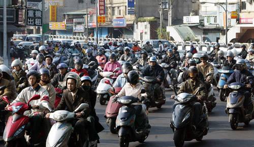台北下班堵車場面